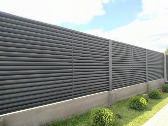 забор металлические жалюзи