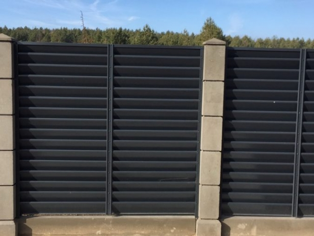 забор жалюзи с модульным забором