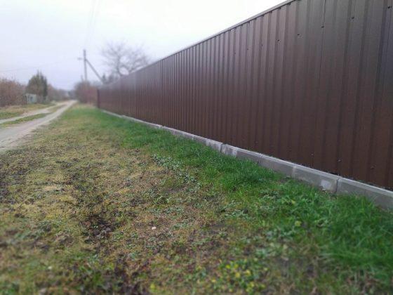 Забор из металлопрфиля под ключ