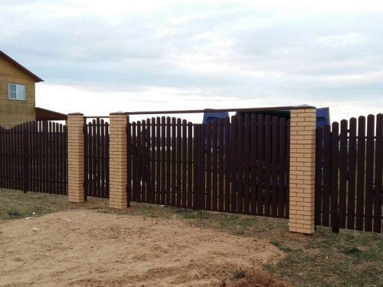 ворота металлоштакетник